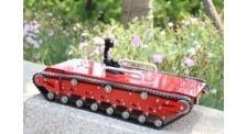移动平台金属履带车