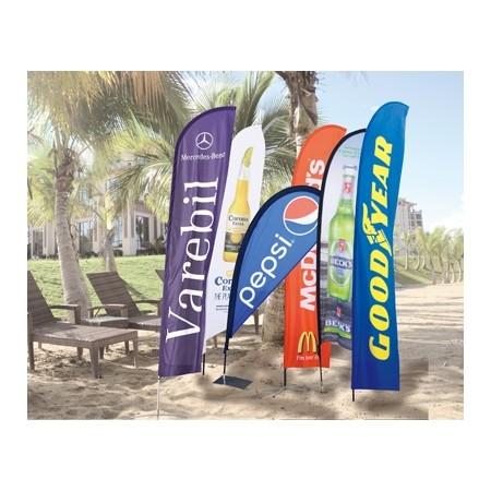 高平直广告使用沙滩旗