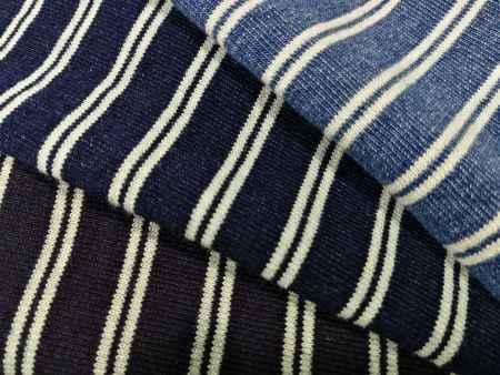 江苏常州丛零针织牛仔—彩条汗布